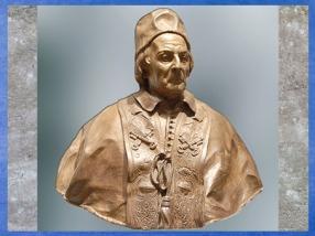 Le pape Clément XII Corsini, d'Edme Bouchardon, vers 1730, plâtre teinté et terre cuite, XVIIIe siècle, Néoclassique. (Marsailly/Blogostelle)