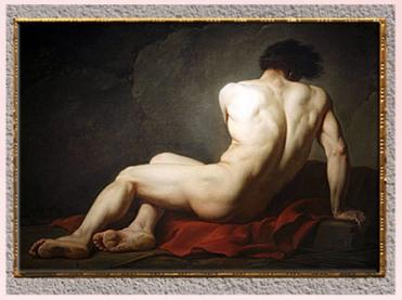 D'après Patrocle, de Jacques-Louis David, 1780, huile sur toile, XVIIIe siècle, Néoclassique. (Marsailly/Blogostelle)