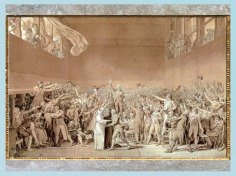 D'après Le serment du jeu de paume, séance du 20 juin 1789 de l'Assemblée nationale, de Jacques Louis David, 1791-1792, France, XVIIIe siècle. (Marsailly/Blogostelle)