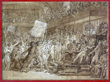 D'après la Journée du 10 août 1792, Patrie-Egalité-Liberté, de François Gérard, 1794, dessin, plume, encre, lavis et rehauts de gouache, France, XVIIIe siècle. (Marsailly/Blogostelle)