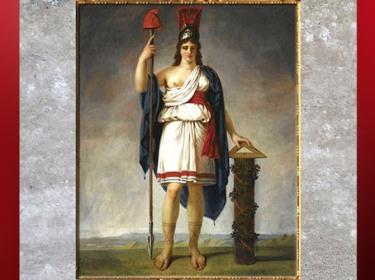 D'après La République, drapée à l'antique avec bonnet phrygien, Antoine-Jean Gros, 1794, huile sur toile, France, XVIIIe siècle. (Marsailly/Blogostelle)