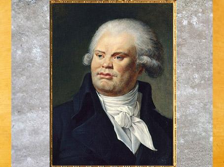 D'après un portrait de Danton (Georges Jacques), huile sur toile de Constance-Marie Charpentier (sa belle-sœur) 1792, France, XVIIIe siècle. (Marsailly/Blogostelle)