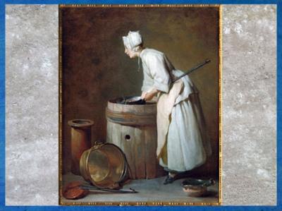 D'après une servante, de Jean-Baptiste Simeon Chardin, 1738, huile sur toile, France, XVIIIe siècle. (Marsailly/Blogostelle)