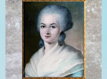 D'après un portrait d'Olympe de Gouges, du peintre polonais Alexander Kucharsky, pastel, fin XVIIIe siècle. (Marsailly/Blogostelle)