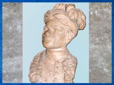 D'après Le Nègre Paul, de Jean-Baptiste Pigalle, 1760-1761, serviteur d'Aignan Thomas Desfriches, terre cuite, XVIIIe siècle. (Marsailly/Blogostelle)