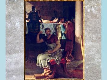 D'après Brutus, Les Licteurs rapportant à Brutus le corps de ses fils, de Jacques-Louis David, Salon de 1789, France, XVIIIe siècle, Néoclassique. (Marsailly/Blogostelle)