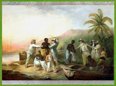 D'après une scène d'esclavagisme, de George Morland, 1789, huile sur toile, Angleterre, XVIIIe siècle. (Marsailly/Blogostelle)