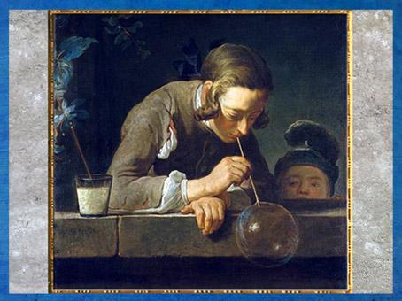 D'après La Bulle de savon, de Jean-Siméon Chardin, 1734, huile sur toile, France, XVIIIe siècle. (Marsailly/Blogostelle)