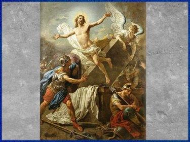 D'après La Résurrection du Christ, de Louis Jean François Lagrenée, 1761, huile sur toile, détails, France, XVIIIe siècle. (Marsailly/Blogostelle)