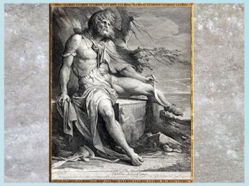 D'après Philoctète sur l'île de Lemnos, de James Barry, version gravée, entre 1777 et 1808, fin XVIIIe siècle. (Marsailly/Blogostelle)