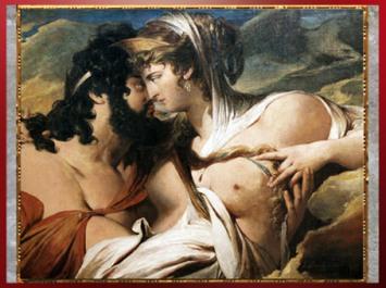 D'après Jupiter séduit par Junon sur le mont Ida, de James Barry, 1790-1799, huile sur toile, fin XVIIIe siècle. (Marsailly/Blogostelle)