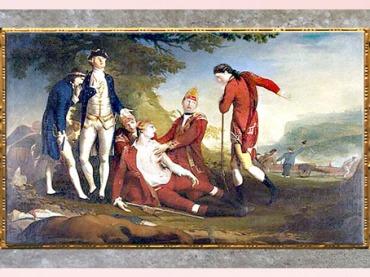 D'après La Mort du général Wolfe, de James Barry, 1777, huile sur toile, fin XVIIIe siècle. (Marsailly/Blogostelle)