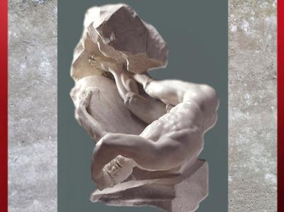 D'après The Falling Titan (La Chute du titan), de Thomas Banks, 1786, marbre, Angleterre, Néoclassique, fin XVIIIe siècle. (Marsailly/Blogostelle)