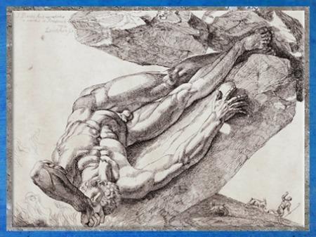 D'après The Falling Titan (La Chute du titan), de Thomas Banks, 1795, esquisse, Angleterre, Néoclassique, fin XVIIIe siècle. (Marsailly/Blogostelle)