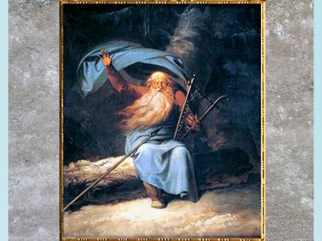 D'après Le Chant du cygne d'Ossian, de Nicolaï Abraham Abildgaard, 1780-1782, huile sur toile, XVIIIe siècle. (Marsailly/Blogostelle)