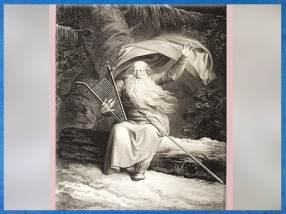 Ossian et son chant de cygne, selon Abildgaard, gravure Johann Friderich Clemens, 1787, XVIIIe siècle. (Marsailly/Blogostelle)