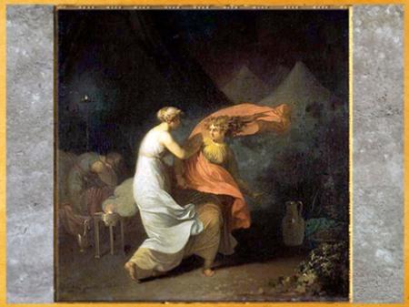 D'après Julia et Fulvia, Triumvirat de Voltaire, de Nicolaï Abraham Abildgaard, 1800, huile sur toile, fin XVIIIe siècle. (Marsailly/Blogostelle)