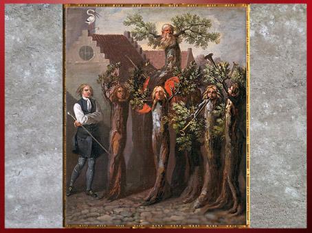 D'après Le triomphe d'un Potuan, d'Abildgaard, 1785-1787, inspiré du roman utopique de Ludvig Holberg, huile sur toile, fin XVIIIe siècle. (Marsailly/Blogostelle)