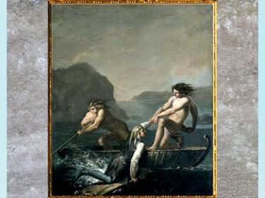 D'après Le voyage souterrain de Niels Klim, de Nicolaï Abraham Abildgaard, 1780, inspiré du roman utopique de Ludvig Holberg, huile sur toile, fin XVIIIe siècle. (Marsailly/Blogostelle)