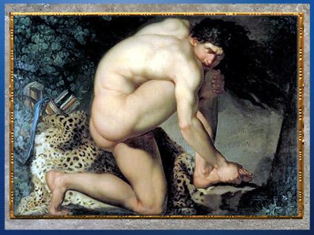 D'après Philoctète blessé, de Nicolaï Abraham Abildgaard, 1774-1775, huile sur toile, fin XVIIIe siècle, (Marsailly/Blogostelle)