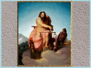 D'après Jupiter pesant le destin de l'Humanité, de Nicolaï Abraham Abildgaard, 1793, huile sur toile, fin XVIIIe siècle. (Marsailly/Blogostelle)