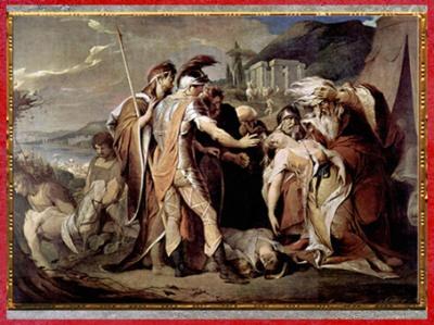 D'après Le roi Lear pleurant Cordelia (tiré de l'oeuvre de Shakespeare), de James Barry, 1786-1788, huile sur toile, fin XVIIIe siècle. (Marsailly/Blogostelle)