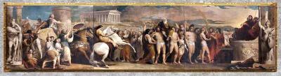 D'après Le Couronnement des vainqueurs à Olympie, de James Barry, série The Progress of Human Culture, 1777-1784, Londres, fin XVIIIe siècle. (Marsailly/Blogostelle)