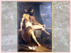 D'après Philoctète sur l'île de Lemnos, de James Barry, 1770, huile sur toile, fin XVIIIe siècle. (Marsailly/Blogostelle)