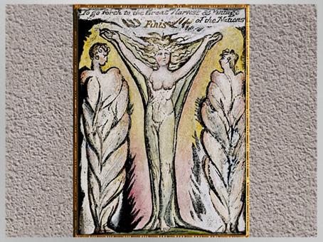 D'après des figures-arbres, de William Blake, 1804-1811, Le Paradis perdu, de John Milton, coloriage à la main, début XIXe siècle. (Marsailly/Blogostelle)