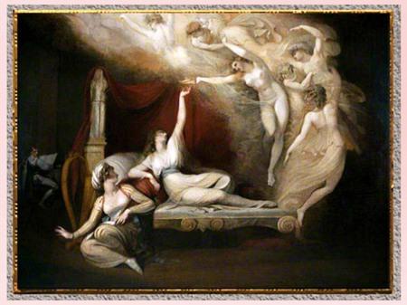 D'après la Vision de Catherine d'Aragon, de Johann Heinrich Füssli, 1781, huile sur toile, fin XVIIIe siècle. (Marsailly/Blogostelle)