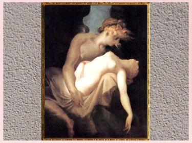 D'après Éros et Psyché, de Johann Heinrich Füssli, 1810, huile sur toile, début XIXe siècle. (Marsailly/Blogostelle)