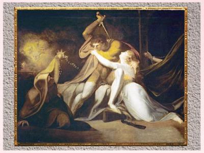 D'après Percival libérant Belisane de l'enchantement d'Urma, de Johann Heinrich Füssli, 1783, huile sur toile, fin XVIIIe, siècle. (Marsailly/Blogostelle)