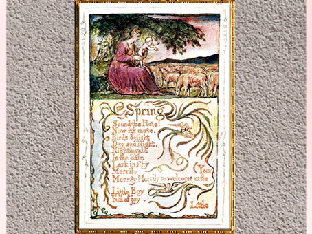 D'après Songs of Innocence and of Experience, The Spring, de William Blake, 1794, plume, encre, aquarelle, fin XVIIIe siècle. (Marsailly/Blogostelle)