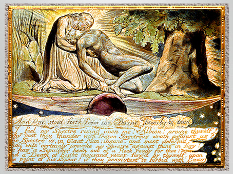 D'après Jerusalem The Emanation of The Giant Albion, The Divine Family…, de William Blake, 1804-1820, plume, encre, aquarelle, début XIXe. (Marsailly/Blogostelle)