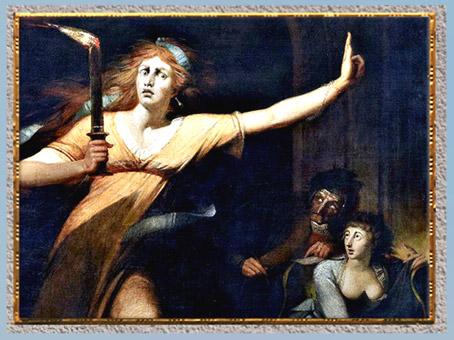 D'après Lady Macbeth, détail, de Johann Heinrich Füssli, exposé en 1784, à Londres, huile sur toile, fin XVIIIe siècle. (Marsailly/Blogostelle)