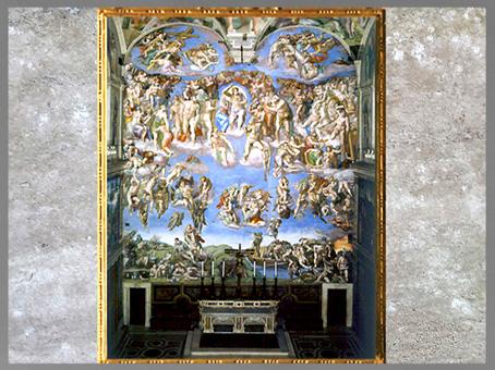 D'après Le Jugement Dernier, de Michelangelo, 1536-1541, chapelle Sixtine, Rome. (Marsailly/Blogostelle)