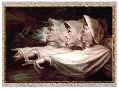 D'après Les Sœurs étranges ou Les trois sorcières, de Johann Heinrich Füssli, 1783, huile sur toile, fin XVIIIe siècle. (Marsailly/Blogostelle)