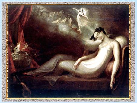 D'après Queen Mab (La Reine Mab), de Johann Heinrich Füssli,1814, Shakespeare, Roméo et Juliette, huile sur toile, début XIXe siècle. (Marsailly/Blogostelle)