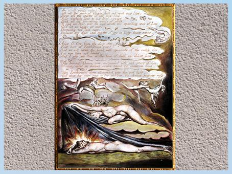 D'après Orc et Enitharmon, Europe A Prophecy, William Blake, 1794, plume, encre, aquarelle, fin XVIIIe siècle. (Marsailly/Blogostelle)