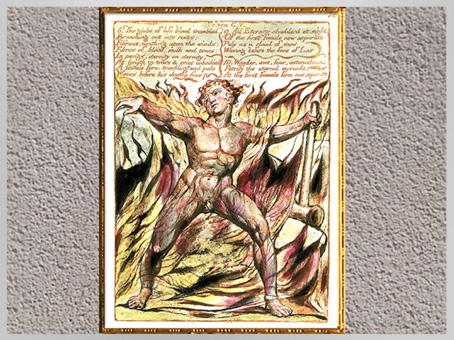 D'après Los, The Book of Urizen, de William Blake, 1818, début XIXe siècle. (Marsailly/Blogostelle)