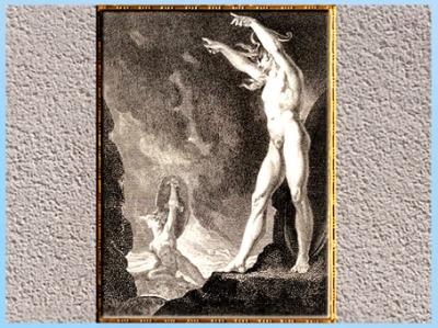 D'après Satan appelant ses légions, Johann Heinrich Füssli, gravure W. Bromley, 1802, début XIXe siècle. (Marsailly/Blogostelle)