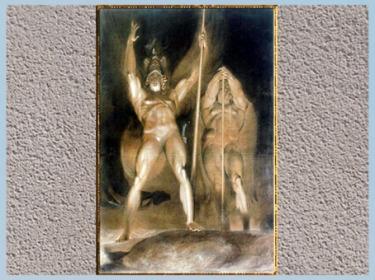 D'après Satan et Belzébuth, étude, de Sir Thomas Lawrence, vers 1795, pierre noire et rehauts de blanc, fin XVIIIe siècle. (Marsailly/Blogostelle)