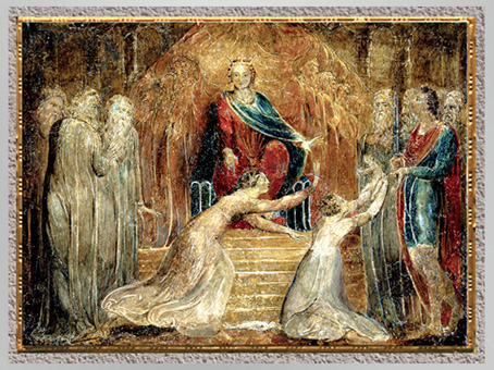 D'après The Judgement of Solomon, de William Blake, avant 1827, tempera sur cuivre, début XIXe siècle. (Marsailly/Blogostelle)