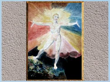 D'après Albion Rose, de William Blake, 1794-1796, gravure, encre et aquarelle, fin XVIIIe siècle. (Marsailly/Blogostelle)