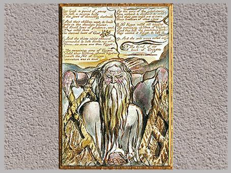 D'après Urizen et ses filets, The Book of Urizen, de William Blake, 1794, copie de 1818, XVIIIe-XIXe siècle. (Marsailly/Blogostelle)