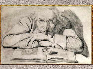 D'après Johann Heinrich Füssli, autoportrait, 1777-1779, mine de plomb, fin XVIIIe siècle. (Marsailly/Blogostelle)