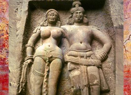 Les arts de l'Inde Ancienne, sommaire, temples rupestres. (MarsaillyBlogostelle)