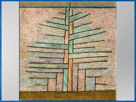 D'après Paul Klee, Pin, huile et sable sur carton, 1932. (Marsailly/Blogostelle)