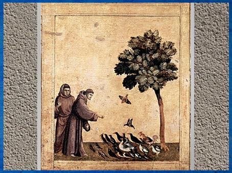 D'après Saint François parlant aux oiseaux, prédelle des stigmates, Giotto di Bondone, 1295-1300 apjc, XIIIe siècle, période médiévale. (Marsailly-Blogostelle)
