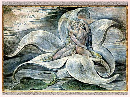 D'après Jerusalem, plate 28, de William Blake, 1820, plume, encre, aquarelle, début XIXe siècle. (Marsailly/Blogostelle)